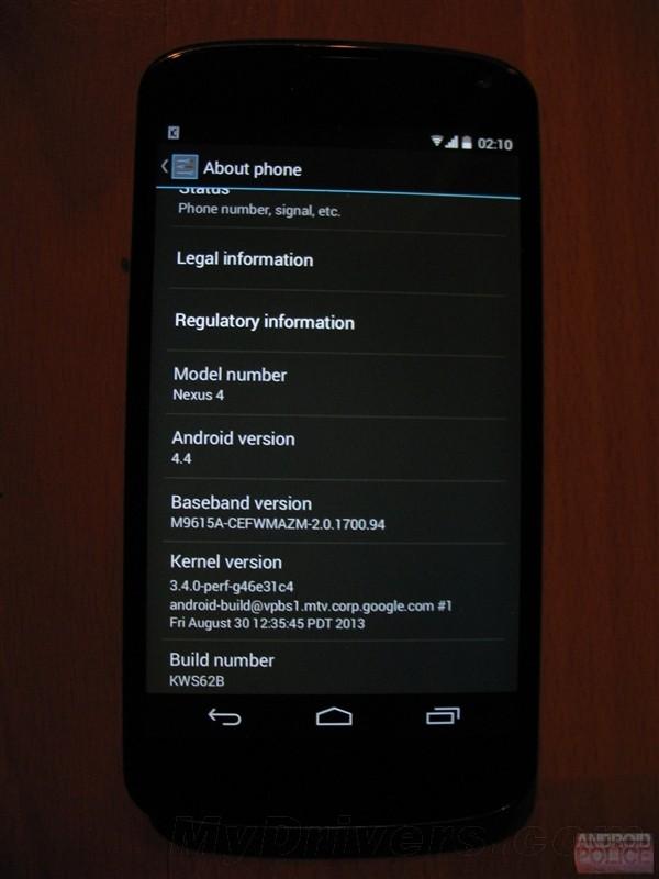 Android 4.4 KitKat su Nexus 4 e Nexus 7 2012 Via OTA