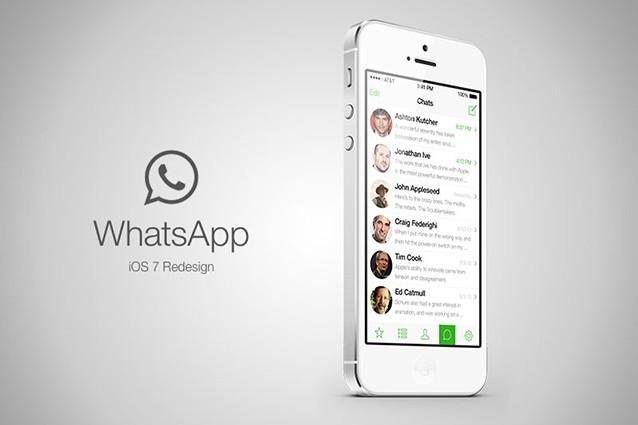 Whatsapp iPhone iOS 7 il Messenger si Aggiorna