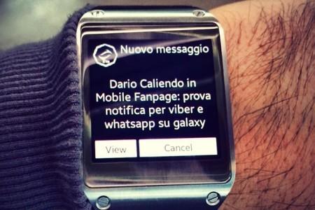 Galaxy Gear come ricevere le notifiche WatsApp sullo smartwatch Samsung