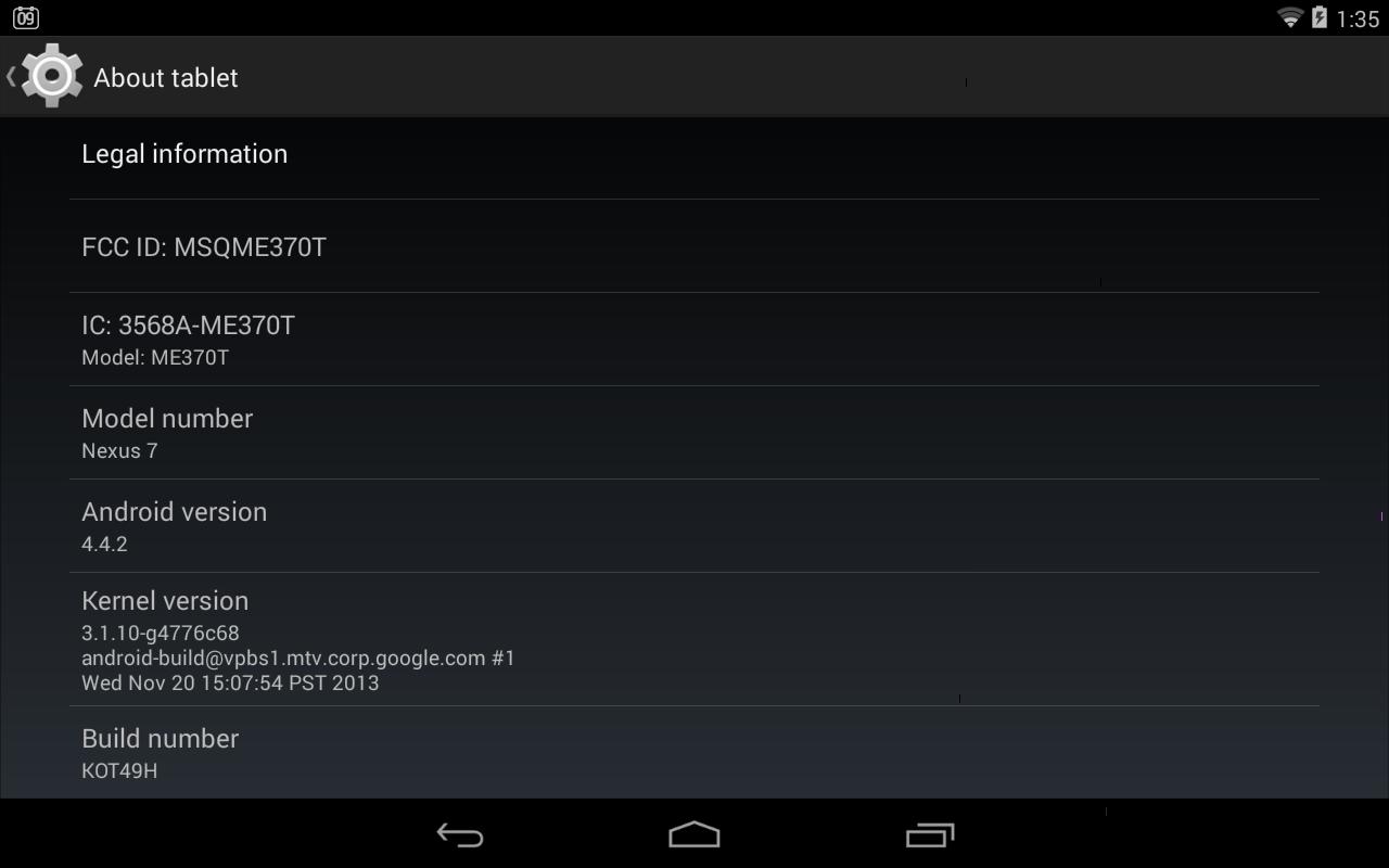 android 4.2.2 aggiornamento