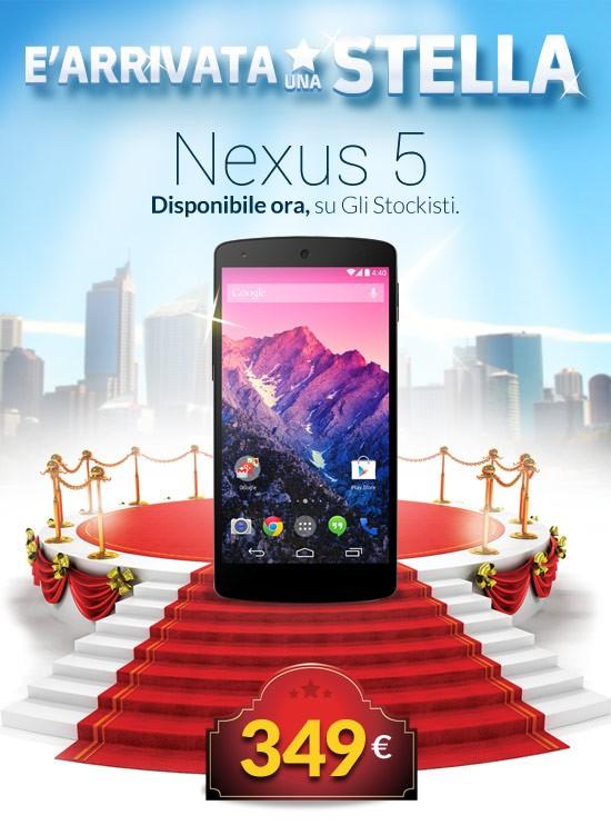 Nexus 5 sottocosto la superofferta natalizia per lo smartphone Android