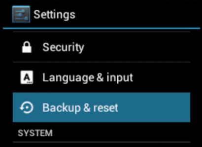 Android Reset e impostazioni di fabbrica guida universale