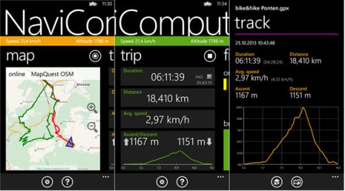 NaviComputer mappe GPS maps gratis offline per Windows Phone