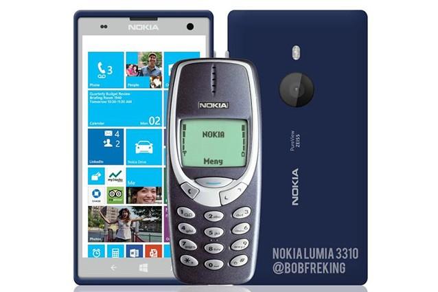 Nokia 3310 il telefono più famoso diventa Nokia Lumia 3310