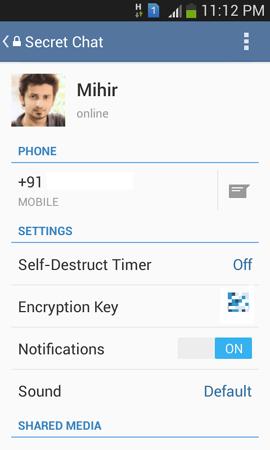 Telegram Android autodistruzione messaggi come impostarla