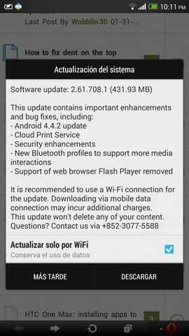 HTC One Max Download Android 4.4.2 KitKat