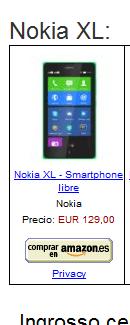 Nokia X, Nokia X+ e Nokia XL in vendita Amazon tutti i prezzi