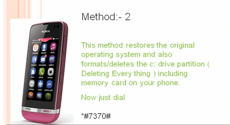 Reset completo del Nokia Asha 311