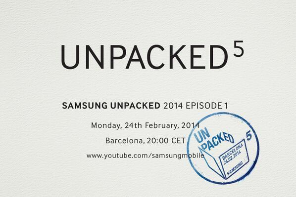 Unpacked 5 Samsung Announcia l'evento Galaxy S5 in arrivo al MWC