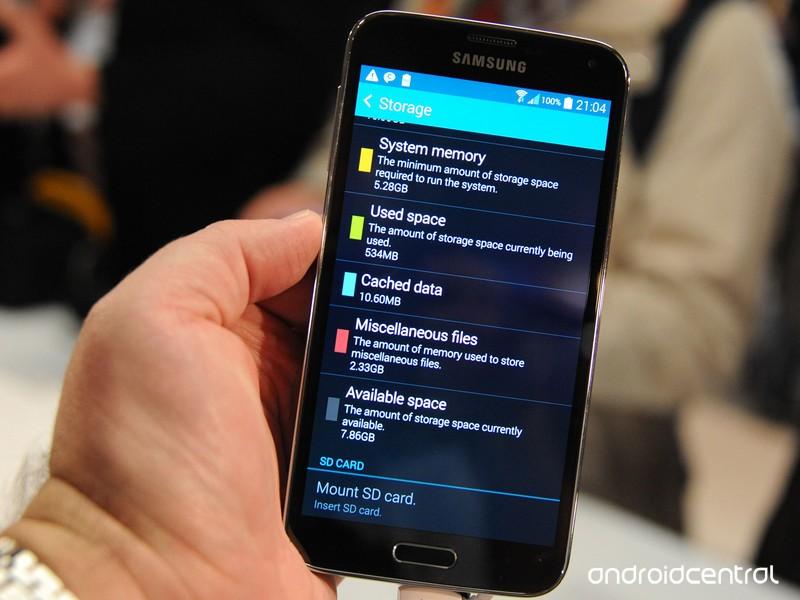Quanta memoria ha a disposizione il Galaxy S5 La occupa 8 Giga