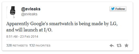 SmartWatch Google è stato fatto da LG Il Lancio al prossimo I / O