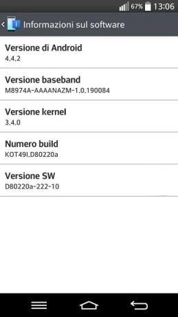 LG G2 Android KitKat 4.4.2 Italia Download