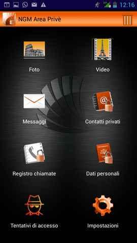 NGM Area Prive' Blocco delle applicazioni solo per telefoni NGM