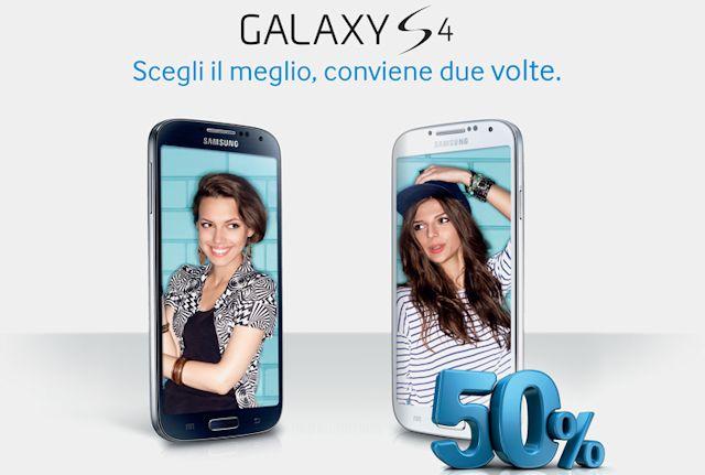 Promozione Samsung Galaxy S4 il secondo 50% di sconto