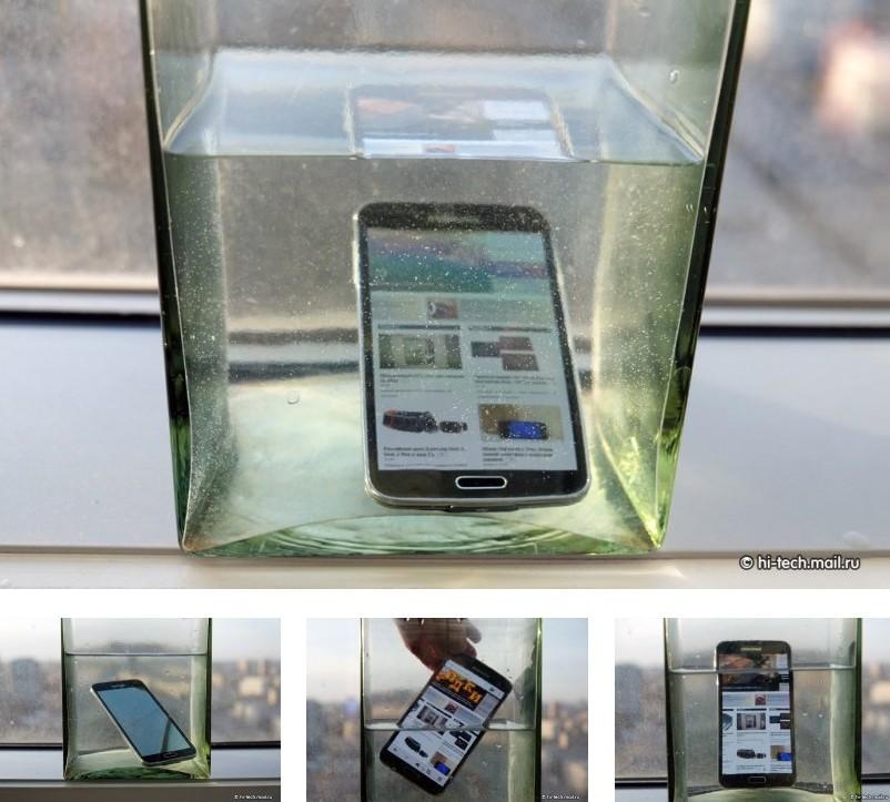 Samsung Galaxy S5 la prova in acqua certificazione IP67 ok