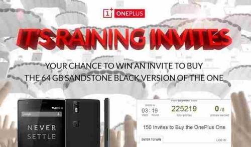 OnePlus One Invito gratis per comprare il telefono