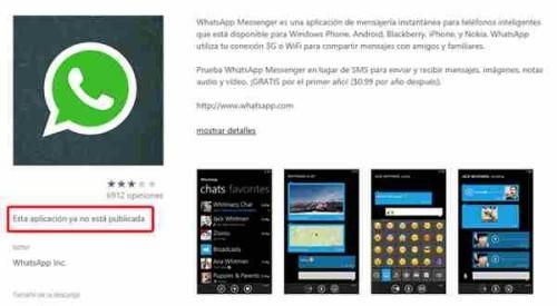 WhatsApp Nokia Lumia scompare dallo store di Windows Phone