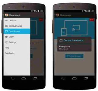 Chromecast Trasmettere il display del telefono Android sulla TV