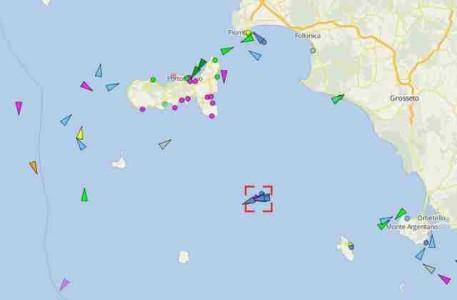 Concordia la mappa sul telefonino segui Live la rotta dal Giglio a Genova