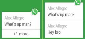 WhatsApp aggiornamento ora supporta smartwatches Android