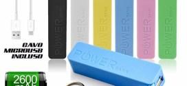Batteria Emergenza Per Samsung Galaxy S2 S3 S4 S5 e Note, Note 2, Note 3
