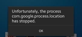 Errore il processo com.google.process.location è stato arrestato