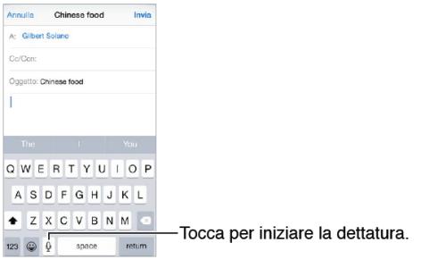 iPhone 6 e iPhone 6 Plus iOS 8 come scrivere un messaggio con voce Dettare SMS