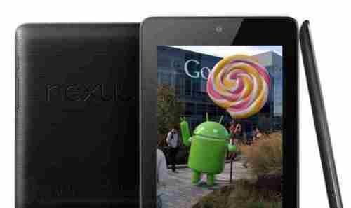 Nexus 7 2012 aggiornamento Android 5.0 Lollipop ROM via OTA
