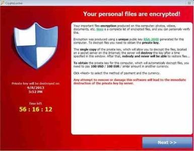 Virus file criptati Cryptolocker soluzione come rimuovere da pc