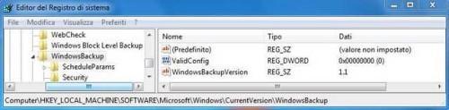 Eliminare e disattivare backup windows 7 dopo impostazione
