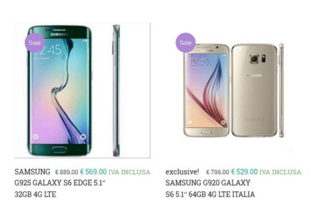 prezzo ribassato galaxy S6