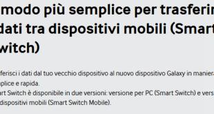 Galaxy S6 e Galaxy S6 Edge come trasferire i dati dal telefono