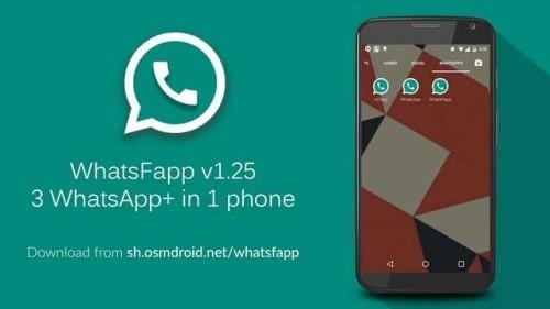 Tre WhatsApp su un telefono Android