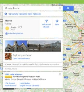 Google Maps inviare la destinazione da PC a app Android