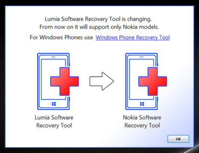 Lumia Software Recovery Tool diventa Nokia Software Recovery Tool v601