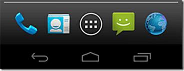 Telefono Android Icona del telefono scomparsa nella barra menu