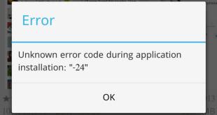 Google Play Store Errore 24 durante installazione applicazione soluzione