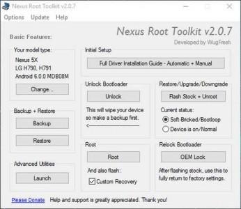 Nexus 5X e Nexus 6P Root veloce con Nexus Root Toolkit