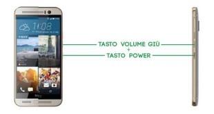 HTC A9 Come fare uno screenshot guida