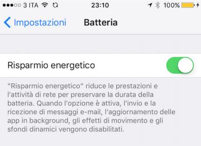 iPhone 6S indicatore della batteria giallo Perché