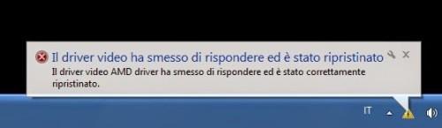 Windows 10 Il driver video ha smesso di rispondere