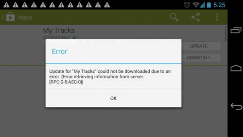 Samsung Galaxy S6 RPC S5 AEC 0 messaggio errore