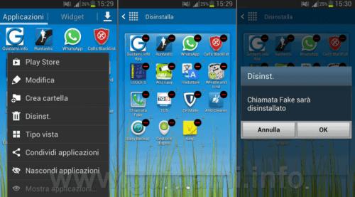 Samsung Galaxy S7 come disinstallare applicazioni