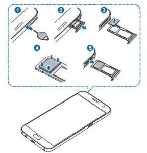 Galaxy S7 come inserire la scheda telefono SIM nel telefono