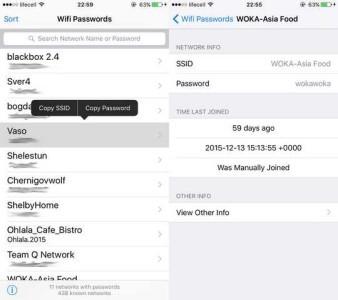 iPhone iPad visualizzare password WiFi salvate su iOS
