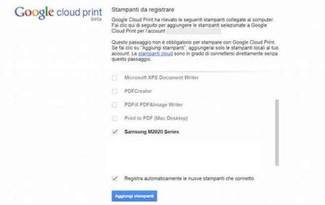 Stampare foto e documenti da telefono Android