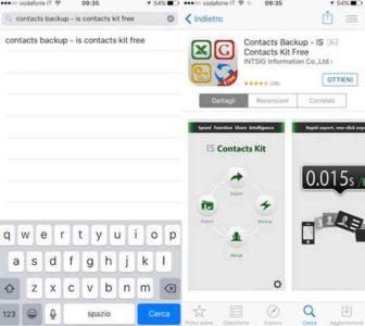 Trasferire contatti sulla SIM del telefono