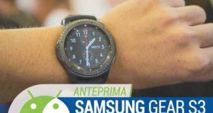 Samsung Gear S3 Video caratteristiche e prezzo