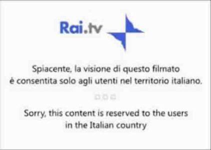 Guardare RAI da estero gratis VPN