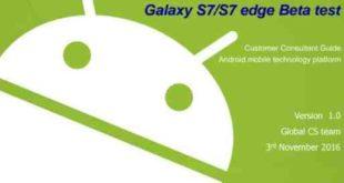 Istruzioni Samsung modifiche Android 6 / Android 7